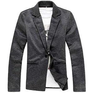 ナガポNAGAPO メンズ キレイめ ジャケット カジュアル テーラード ビジネス 長袖 大きいサイズ も 春 秋(グレー, L)|sevenleaf