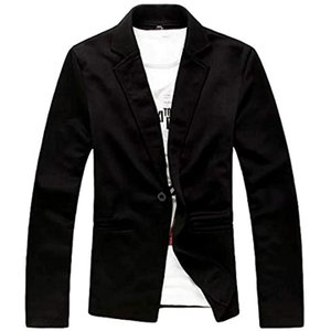 ナガポNAGAPO メンズ キレイめ ジャケット カジュアル テーラード ビジネス 長袖 大きいサイズ も 春 秋(ブラック, XL)|sevenleaf