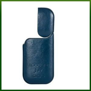 iQOS アイコス ケース カバー フルカバータイプ レザーケース 高級感 持ち運び 落下 衝撃吸収 安心 充電可能[IO-2101](ブルー) sevenleaf