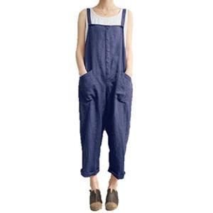 レディース サロペット つなぎ オールインワン オーバーオール ズボン カジュアル 大きいサイズ ネイビー, L の商品画像|ナビ