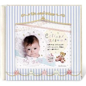 キシマ コッコロ ベビーアルバム Blue ブルー 0ヶ月〜36ヶ月 出産祝い KP-30958(ブルー)|sevenleaf