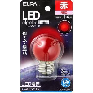 エルパ LED電球G40形E26 屋内装飾照明におすすめ(赤色)|sevenleaf