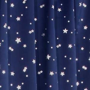 1級遮光カーテン プラネット 幅100cm*丈110cm 2枚入 遮光カーテン(ネイビーブルー, 幅100cm*丈110cm 2枚入)|sevenleaf