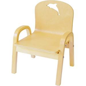 ・子供が好きなかわいいイルカの形を椅子の背もたれに彫っています。 商品はイルカとクジラのくり抜きの二...