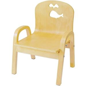 ・子供が好きなかわいいクジラの形を椅子の背もたれに彫っています。 商品はイルカとクジラのくり抜きの二...