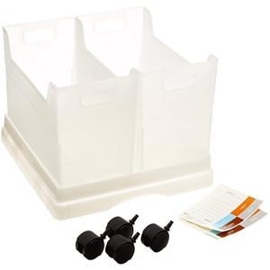 ファイルボックス 書類収納ケース キャパティ キャスター付き2ボックス[CEB-W4-W]|sevenleaf