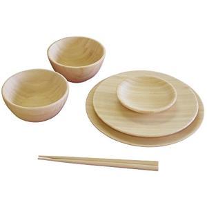 お食い初め 6点セット 国産 天然竹製 食洗機対応 ノーマルタイプ NC-001DS(クリーム)|sevenleaf
