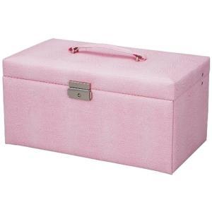 LEATHER STYLE スウィートジュエリーボックス LLサイズ ピンク[SB-07002]|sevenleaf
