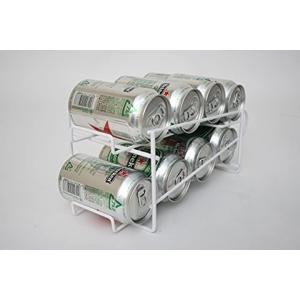 冷蔵庫内のビールやジュースをすっきり収納。コロコロ転がし古い缶から取り出せる。入れ替えなくても上から...