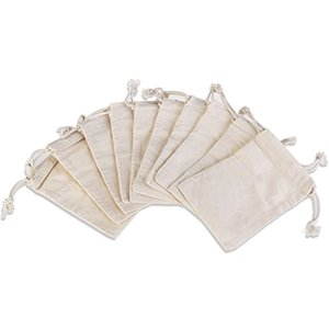 10個入り 10x14.5cm 巾着袋 ギフトバッグ ジュエリー ポーチ(ベージュ)|sevenleaf