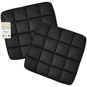 消臭 ムレ防止 竹炭クッション カーシート オフィスチェア リビングに 2枚セット(ブラック)|sevenleaf