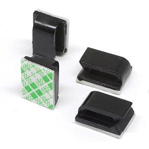 フラットケーブル固定具 粘着シート付 黒色 50個セット[0115005834-0006](50個)|sevenleaf