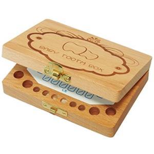 乳歯ケース 乳歯入れ 木製 抜けた日シール2色セット 日本語表記(トゥースボックス)|sevenleaf