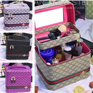 4color!大容量メイクボックスコスメボックス コスメ収納  小物入れ 持ち運び可 ネイル プロ 美容 大容量 アクセサリー 収納 化粧品の写真