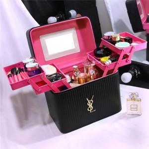4color!メイクボックス コスメボックス 鏡付き 雑貨 小物入れ 持ち運び可 ネイル プロ 美容 大容量 アクセサリー 収納 化粧品 ジュエリーボックスの写真