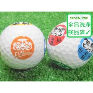 キャラフルマーク ゴルフボール 1個 当店Aランク 中古 ロストボール ダルマ フルーツ スター