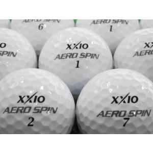 ロストボール 美品 ゼクシオ XXIO エアロスピン AEROSPIN 1ダース 12球セット 中古 ゴルフボール