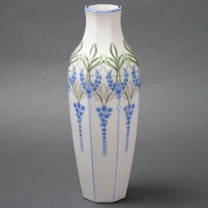 セーブル 稀少な一点物 花瓶 飾り壺 アランソン30 ユリの紋様 ハンドメイド