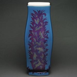 セーブル 稀少な一点物 花瓶 飾り壺 ゴーヴェネ 7(1) ハンドメイド Sevres