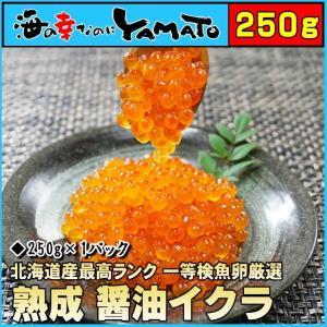 熟成醤油漬イクラ 250g (最高グレード1等検魚卵)  内  容:250g 原材料:鮭卵(北海道産...