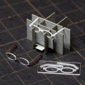 約1/12 アクリル眼鏡キット(2個入り)|sfkobo-ws