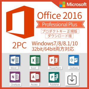 Microsoft Office 2016 Professional Plus 2PC プロダクトキ...