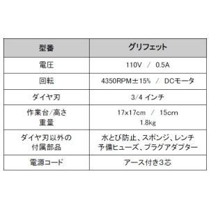 グリフェット ステンドグラス小型ルーター グラインダー 3/4ダイヤ刃 (保護メガネ特別付属)|sgs-shop|02