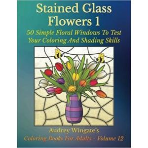 大人の塗り絵 ステンドグラスの花1 50集|sgs-shop