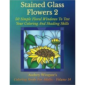 大人の塗り絵 ステンドグラスの花2 50集|sgs-shop