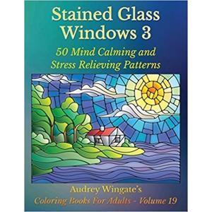 大人の塗り絵 ステンドグラスの窓 50集|sgs-shop