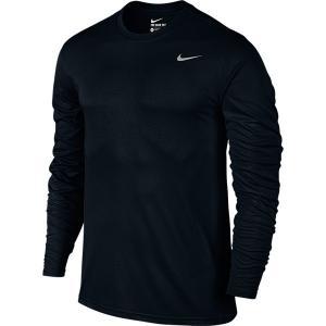 即納 ネコポス対応 ナイキ/NIKE メンズ N-XT DRI-FIT レジェンド L/S Tシャツ  718838 ブラック×ブラック(010)|sgs