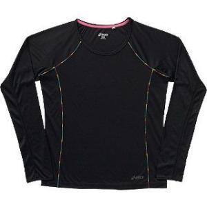 【特価!!30%OFF】 アシックス/asics レディース ロングTシャツ CFS72H ブラック(90) sgs