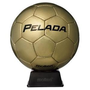 ペレーダの記念ボールです。    縫い・人工皮革   金色   置台(DMS1)付き:幅11.5×奥...