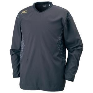 即納 2017年秋冬モデル ネコポス対応 ミズノ/MIZUNO バレーボール メンズ ユニセックス ブレーカーシャツ  V2ME751197 ブラック×ゴールド|sgs