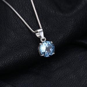Jewelrypalace 2.46ct 天然石 11月 誕生石 スカイブルー トパーズ ペンダント...