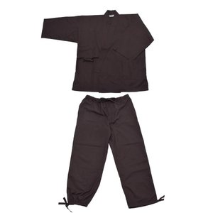 京都きもの町 作務衣「黒」 Sサイズ メンズ 父の日 プレゼント
