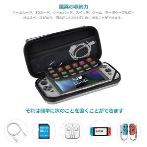 Nintendo switch キャリング ケース Elekele保護カバー スリムハードポーチ 防...