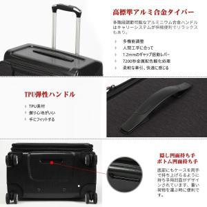 Uniwalker 防水加工 スーツケース 容量拡張可能 超軽量 キャリーバッグ 旅行 出張 キャリ...