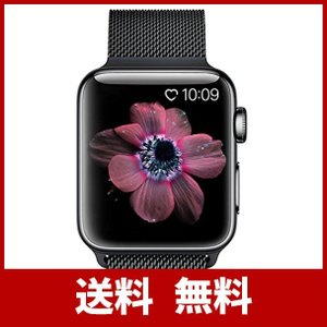 BRG コンパチブル apple watch バンド(38mm/40mm,ブラック),ミラネーゼルー...