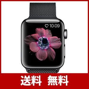 BRG コンパチブル apple watch バンド(42mm/44mm,ブラック),ミラネーゼルー...