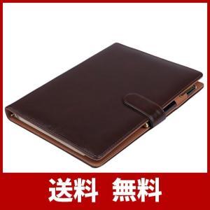 【Raccolta Luce】システム手帳 B5 26穴 19mm リング ルーズリーフ マグネットボタン 使いやすい 黒 茶 (茶 ブラウン B5)|sh-price