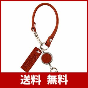 (アジリティ アファ) AGILITY affa/リールストラップ 【ストラップ リール レザー キーホルダー 革】 (茶)|sh-price