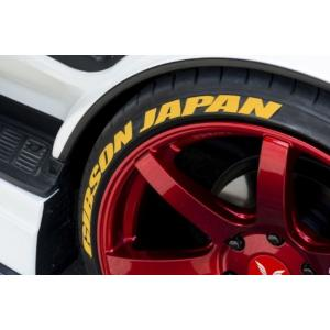 ギブソン(GIBSON) タイヤステッカー【イエロー】