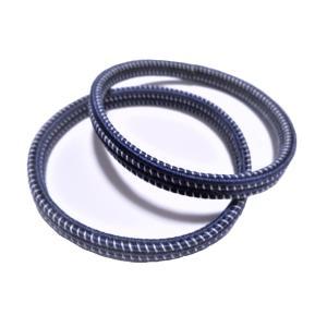 静電気除去ブレスレット2本セット(紺)
