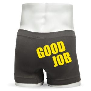 ボクサーパンツ (グレー) (シームレス)・GOODJOB グッジョブ プレゼント ギフト おもしろ ジョーク パンツ /F3/ シャレもん|shalemon