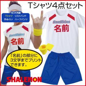 名入れ サンシャイン池崎 コスプレ (  Tシャツ 4点セット ) 手ぬぐい パンツ リストバンド/C10/ shalemon