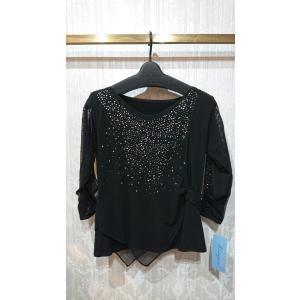社交ダンス 衣装 レディース レッスン ウェア トップス ブラック M-L|shallwedance