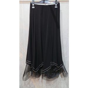 社交ダンス 衣装 レディース レッスン ウェア スカート ブラック F|shallwedance