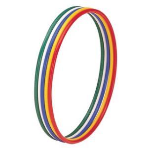 ●5色1組(青・緑・赤・白・黄)●内径60cm●重さ1kg/組。 ポリエチレン18mmパイプ(抗菌仕...