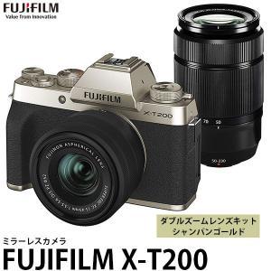 フジフイルム FUJIFILM X-T200 ダブルズームレンズキット シャンパンゴールド 【送料無料】|shasinyasan